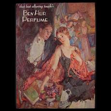 1920's Vintage Ben Hur Perfume Advertising Poster Counter Window Card