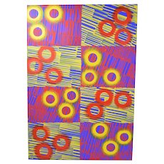 1980's Abstract Image #17 Oil Painting sgnd Karsten Wittke PS1 NYC & Berlin