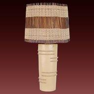 Vintage Mid-Century Modern 1950s Rita Sargen Studio Chicago Art Pottery Lamp