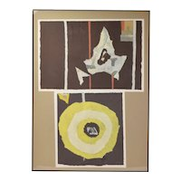 1970's Vintage Modern Abstract Paper Collage #2 Ki Davis Chicago Artist