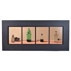 "John Collier Sabraw ""Chemical Rarities"" 1997 Acrylic Painting Vintage Bottles"
