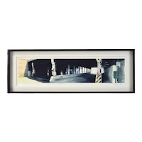 """Steven Skinner """"Viaduct on Ashland Ave"""" Chicago Industrial Architectural Painting"""