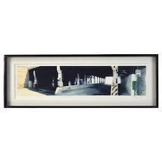 "Steven Skinner ""Viaduct on Ashland Ave"" Chicago Industrial Architectural Painting"