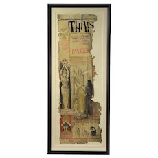 "19th Century Manuel Orazi ""Thais"" 1894 Lithographic Opera Poster"