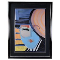 "1983 Peter Max ""Deco Lady"" Signed Limited Edition Lithograph"