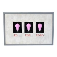 "1991 Woody Holliman Wall Sculpture ""Ideo"" Light Bulbs"