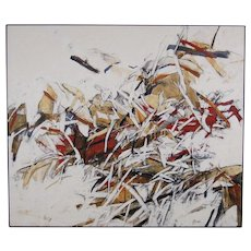 """Large Modern Abstract Painting """"Revision"""" by Chicago artist Sandra Gierke"""