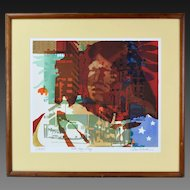 Dan Siculan L/E Abstract Chicago Architectural Screenprint signed