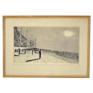 """Jack Perlmutter """"Salt Air and Shadows"""" Mid-Century Abstract Lithograph"""
