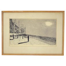 "Jack Perlmutter ""Salt Air and Shadows"" Mid-Century Abstract Lithograph"