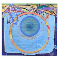"1991 Abstract Oil Painting ""Vessel of Light #91"" Martin Facey California Artist"