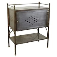 Vintage Steel Industrial Side Table Cabinet Nightstand Work Table