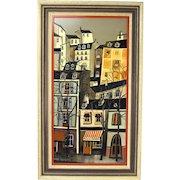 Vintage Mid-Century Modern Oil Painting Frivolites Montmartre by Guy Nochet