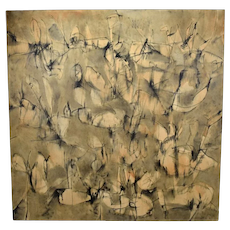 """Large Judith Foosaner Oil Painting """"Wing and a Prayer"""" 1996"""