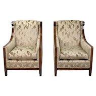 Vintage Pair Dessin Fournir London Club Chairs