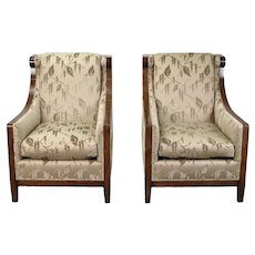 Vintage Pair Dessin Fournir London Club Chairs