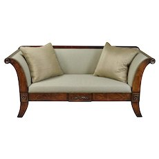 William Switzer Classic Austrian Biedermeier Style Sofa Hand Crafted