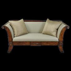 William Switzer Classic Austrian Biedermeier Style Sofa Hand Crafted
