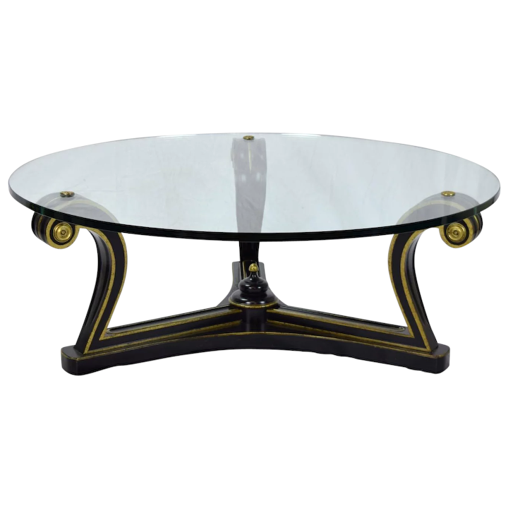 Prime Mid Century Empire Ebonized Scroll Coffee Table Glass Top By Fine Arts Furniture Ncnpc Chair Design For Home Ncnpcorg
