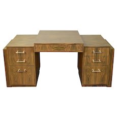 Art Deco Style Interior Crafts Chicago Rosewood Partners Desk as-is