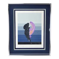 "Erté Erte ""Beauty and the Beast"" Serigraph Double Signed Personally Dedicated"