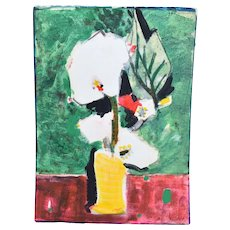 Bernard Lorjou French Expressionist Painting Abstracted Floral Still Life