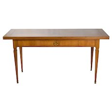 Vintage Baker Neo-Classical Style Console Sofa Table w Convertible Flip-Top