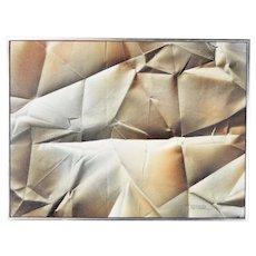 Leonardo Nierman trompe l'oeil Crumpled Paper Oil Painting