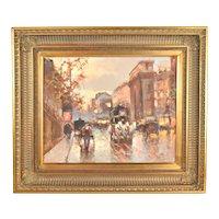 "Vladimir Nasonov ""Magnificent Place"" Parisian Impressionist Oil Painting Russian Artist"