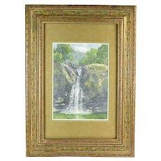 Stephen Smalzel Southwest American Waterfall Landscape Painting Colorado Artist
