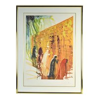"""Salvador Dali """"Wailing Wall"""" Original Embossed Limited Edition Signed Lithograph"""