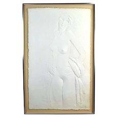 "1970's Frank Gallo ""The Dancer"" Cast Paper Bas-Relief Nude Sculpture Sgd L/E"