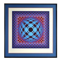 """Victor Vasarely """"Hang"""" 1979 Geometric Op Art Silkscreen Signed Limited Edition"""