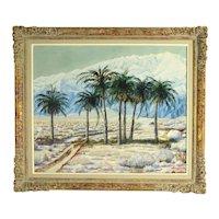 1948 California Desert Palms Landscape Joseph Jelinek LAX Artist