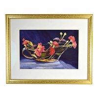 Barbara Bennett Floral Still Life Watercolor Painting Gathered for Grandma Coachella