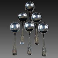 Lot 6 Dominick Haff Mayfair Engraved 1911 Sterling Silver Soup Spoons