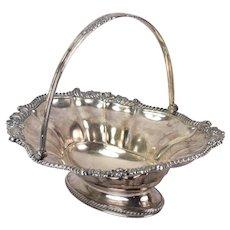 Antique Georgian Old Sheffield Plate Fused Silver Swing Handle Bread Basket