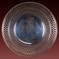 Webster Sterling Silver Pierced Footed Serving Platter Dish