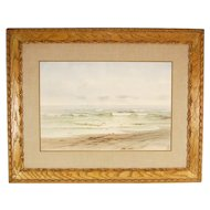 Frederick Debourg Richards New Jersey Shore Seascape Watercolor Painting