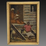 Depression Era Bryan African American Sharecroppers South Carolina Oil Painting