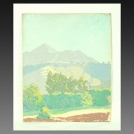 Landscape Oil Painting Atascadero California by Ralph William Holmes