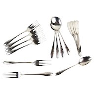 15 pc set Gorham Lyric Sterling Silver Dinner Salad Fork Soup Tea Spoons Butters