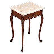 Louis XVI French style Marble Top Carved Gilt Wood Occassional End Table