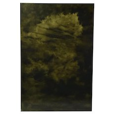 Abstract Monochrome Cloud Painting Skyscape by Chicago Artist Kopala #4