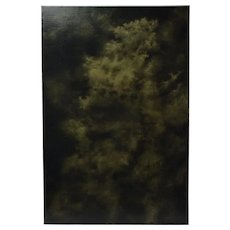 Abstract Monochrome Cloud Painting Skyscape by Chicago Artist Kopala #3