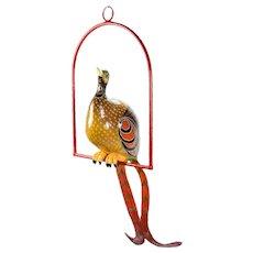 Vintage Sergio Bustamante Limited Edition Paper Mache Tropical Bird Sculpture