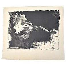 "Vintage Abstracted Lithograph ""Whatever You Like #6"" Sandy Slone Barkell"