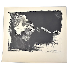 """Vintage Abstracted Lithograph """"Whatever You Like #6"""" Sandy Slone Barkell"""