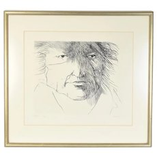 "Leonard Baskin ""Francisco de Goya"" Limited edition Etching Signed #'d"