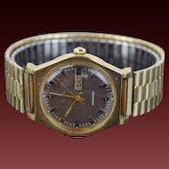 Vintage 1974 10kt GF Bulova Swiss Automatic Men's Wrist Watch
